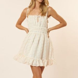 RED CARTER DRESS new with tags small white gold